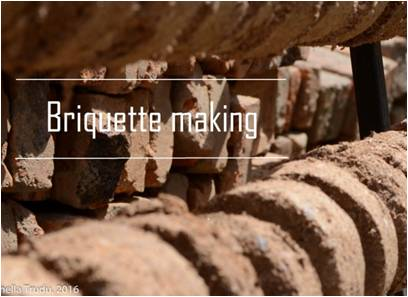 briquette making