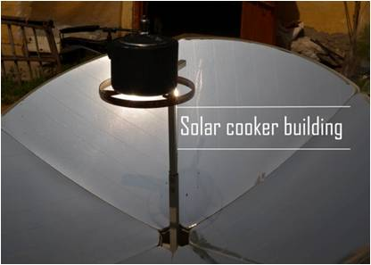 solar cooker building